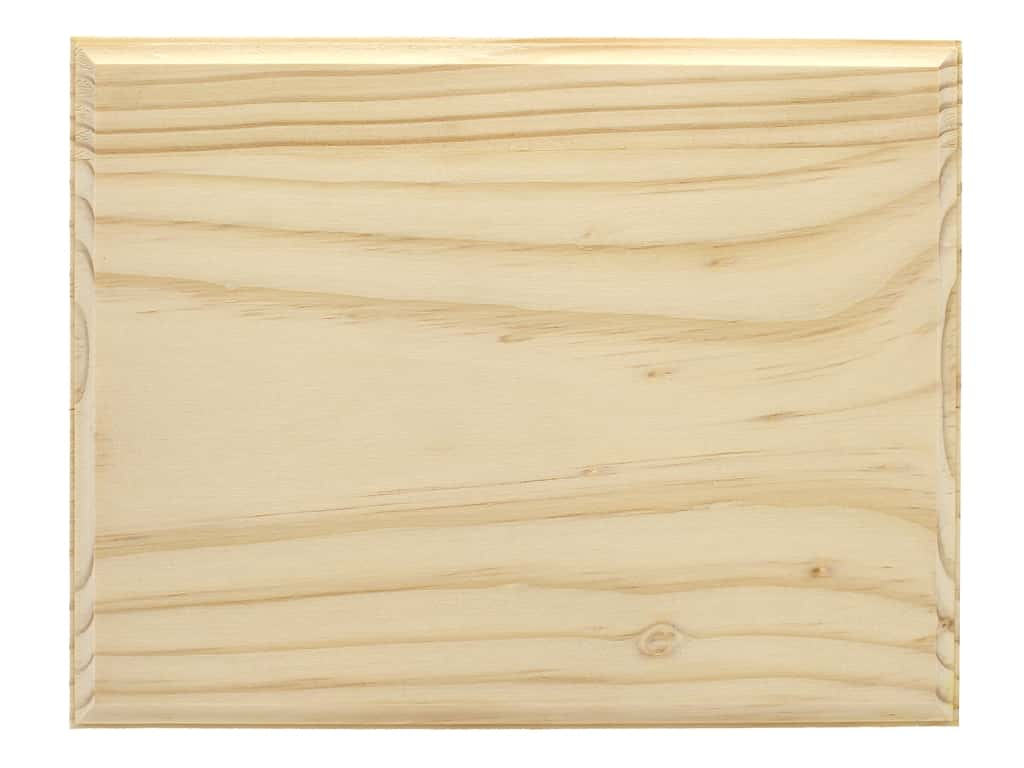 Darice Wood Plaque Unfinished Rectangle 7 in. x 9 in.