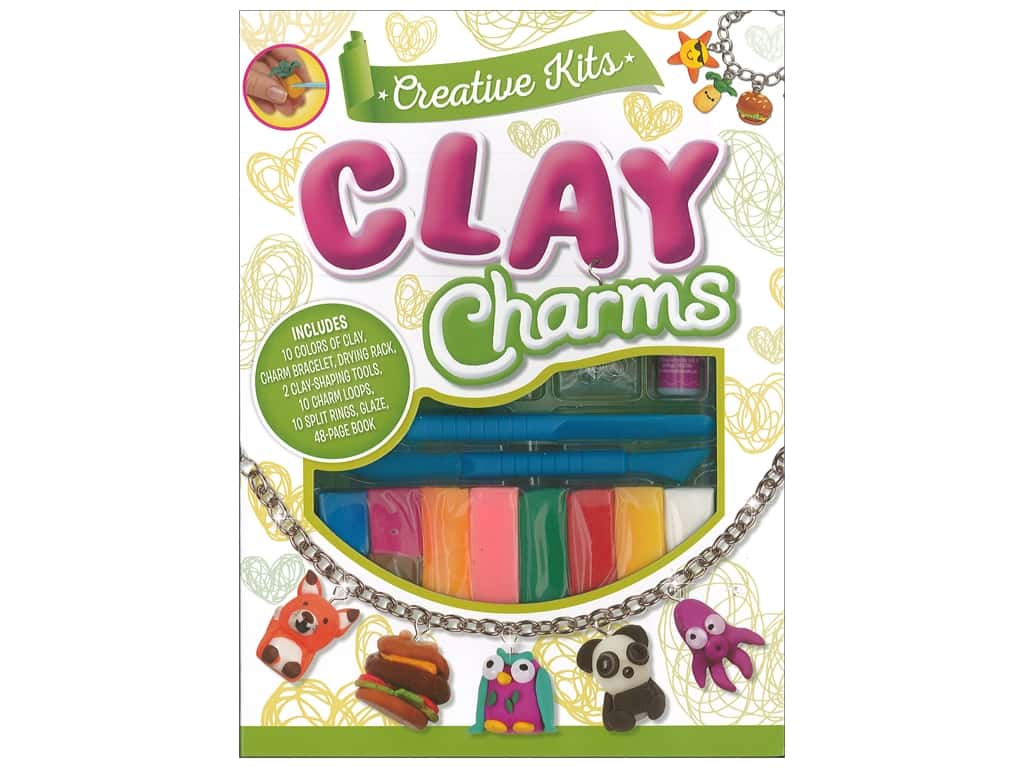 Silver Dolphin Creative Kit Clay Charms