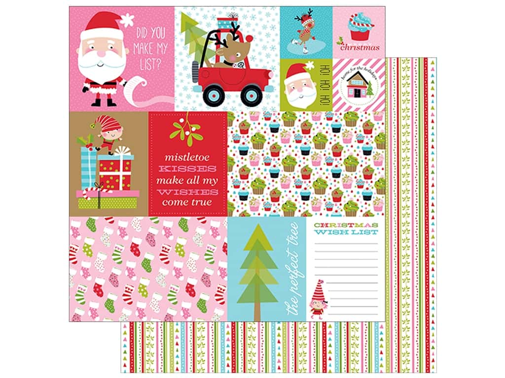 """Bella Blvd Santa Stops Here Paper 12""""x 12"""" Daily Details (25 pieces)"""