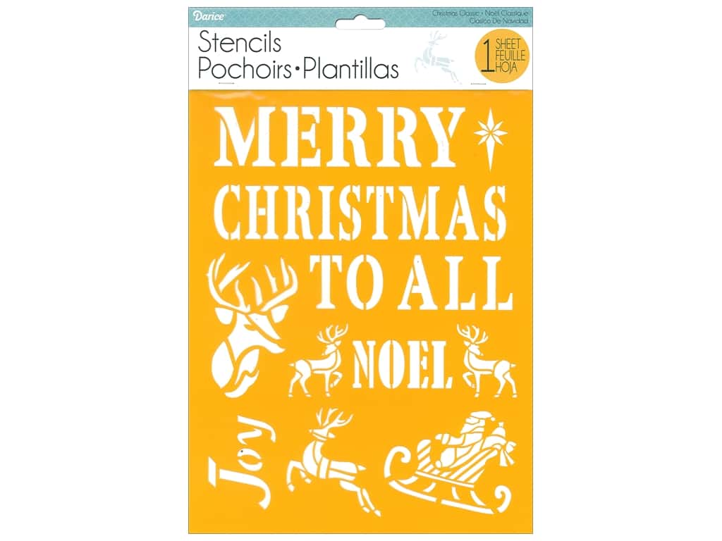 Darice Craft Stencil 8 1/2 x 11 in. Christmas Classic
