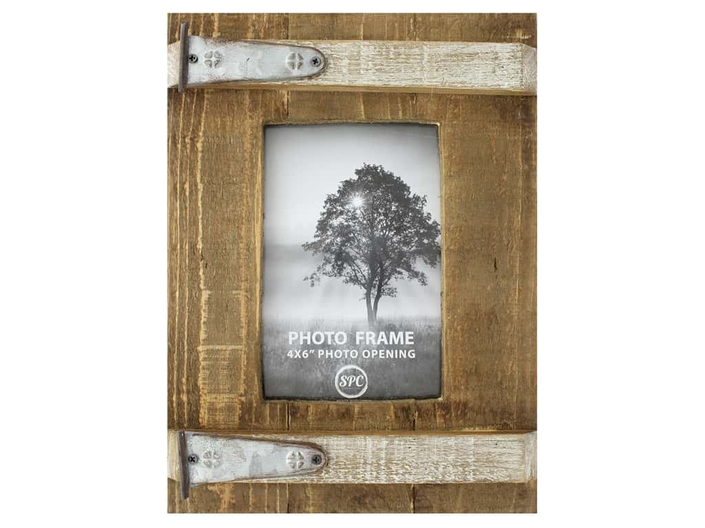 Sierra Pacific Crafts Wood Frame With 2 Hinge 4 in. x 6 in. Brown