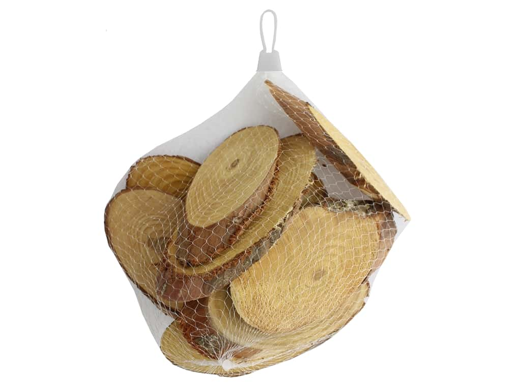 Sierra Pacific Crafts Wood Oval Disk 8.75 in. - 9.75 in.  Bag Natural