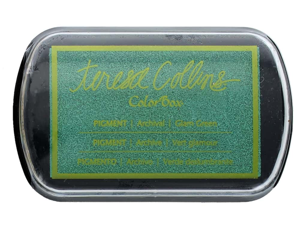 ColorBox Pigment Inkpad Full Size Teresa Collins Glam Green
