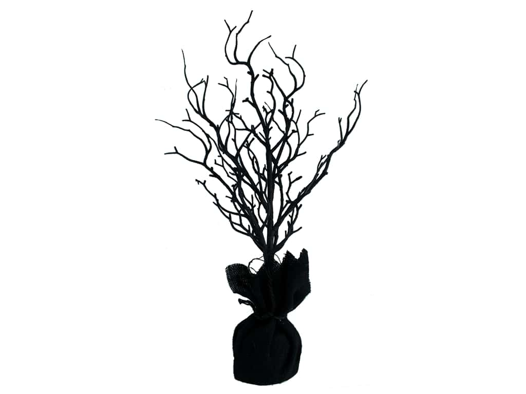 Darice Decor Halloween Tree 18 inch Twig Black