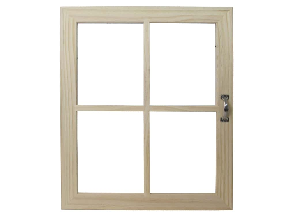 Darice Wooden Craft Window 18 x 22 in. 4 Pane with Handle