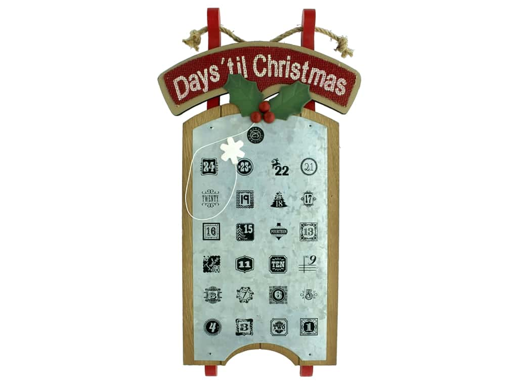 Darice Decor Wall Calendar Countdown Sled