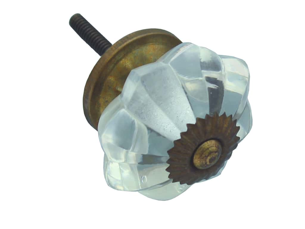 Darice Hardware Knob Glass Fancy Clear