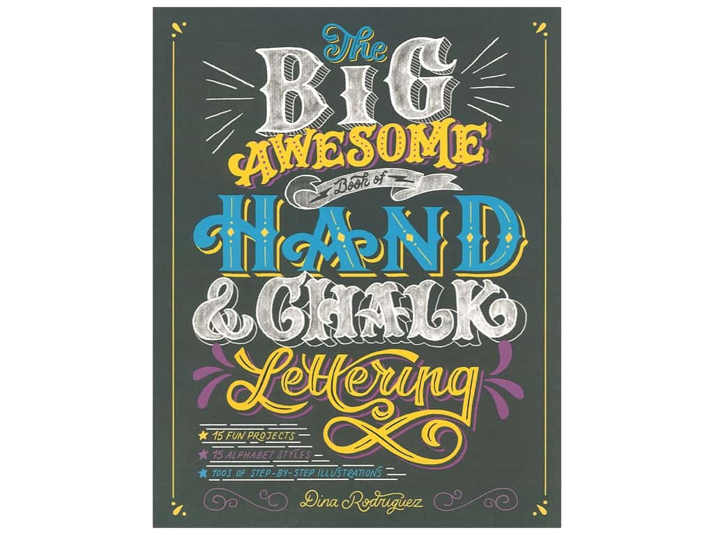 Big Awesome Book of Hand & Chalk Lettering -- CreateForLess