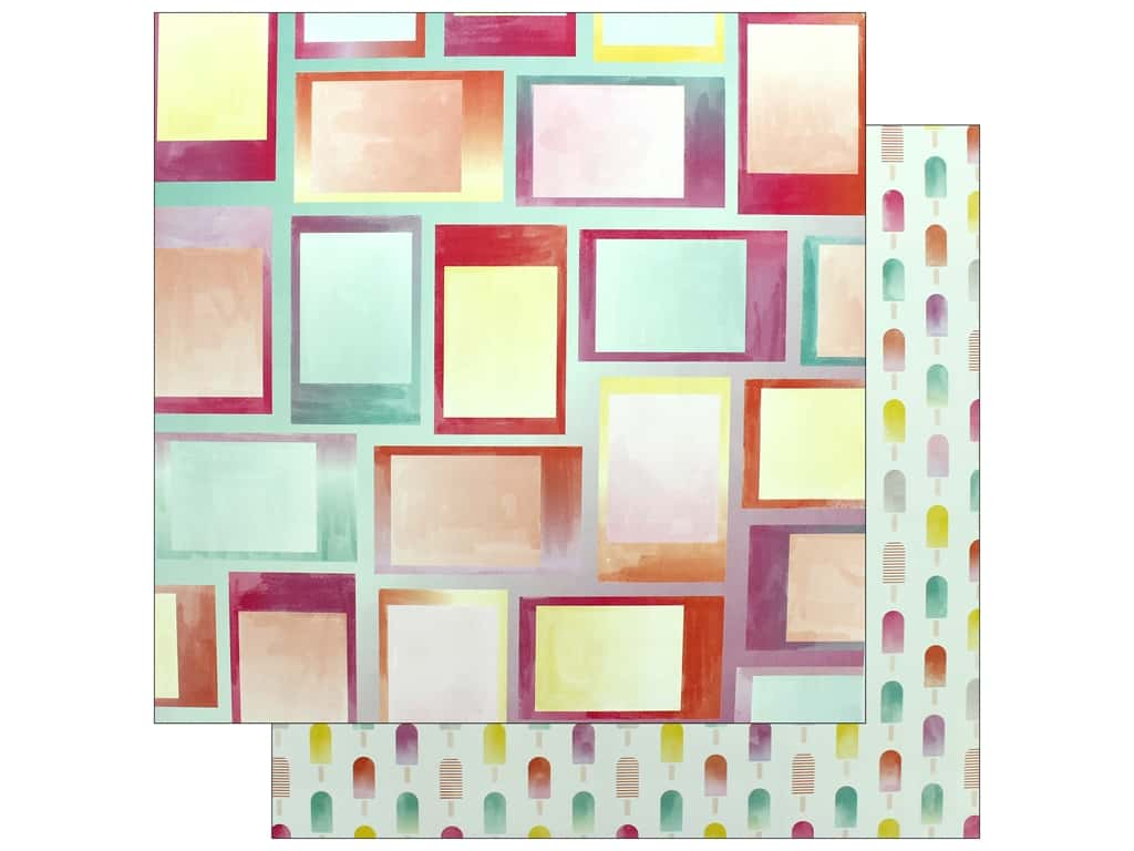 """Pink Paislee Collection Summer Lights Paper 12""""x 12"""" Paper 7 (25 pieces)"""