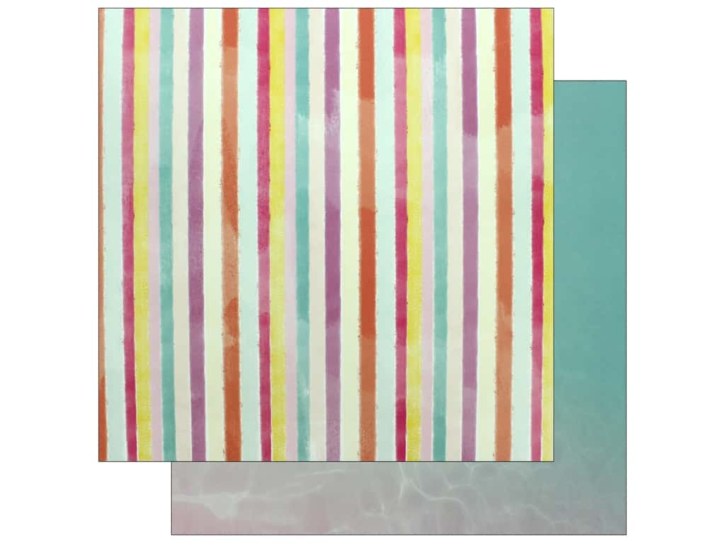 """Pink Paislee Collection Summer Lights Paper 12""""x 12"""" Paper 9 (25 pieces)"""