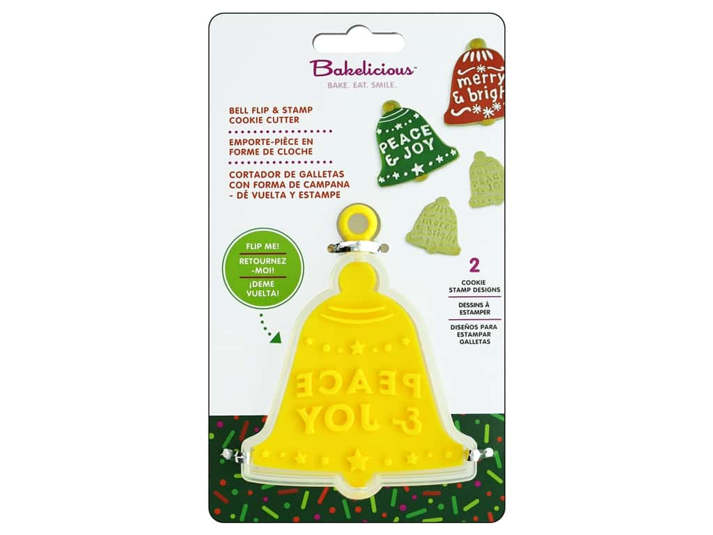 Fox Run Cookie Cutter Bakelicious Flip & Stamp Bell
