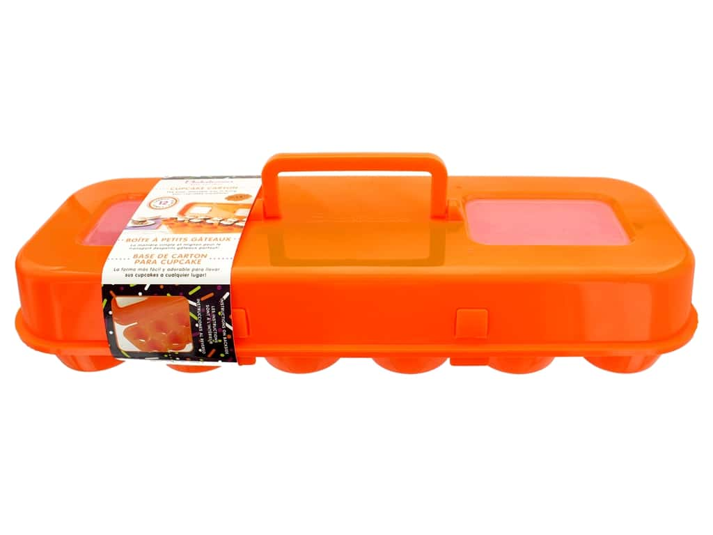 Fox Run Bakelicious Cupcake Carton Orange