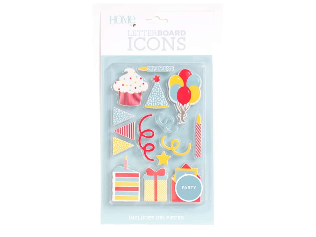 DieCuts With A View With A View Collection Letterboard Icons Party