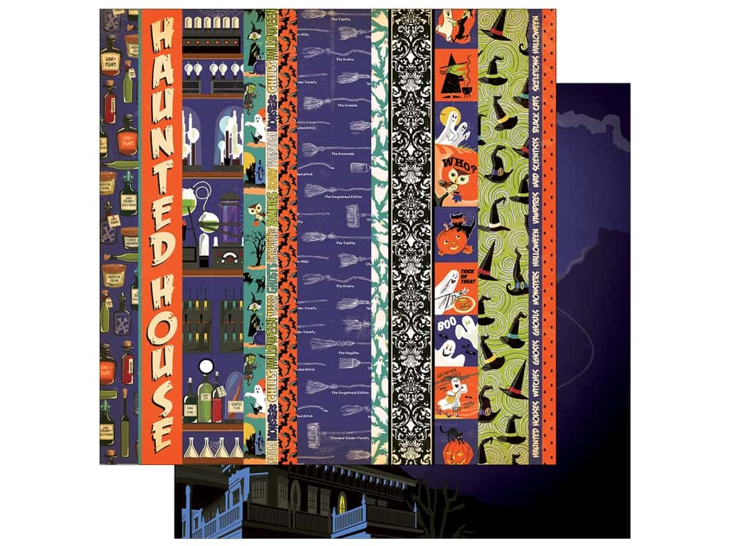 """Carta Bella Collection Haunted House Paper  12""""x 12"""" Border Strips (25 pieces)"""