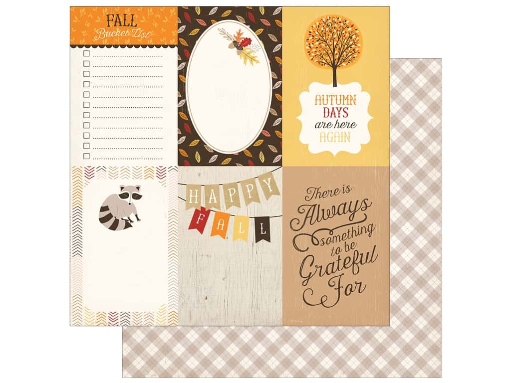 "Carta Bella Collection Hello Fall Paper 12""x 12"" Journal Card 4""x 6"" (25 pieces)"
