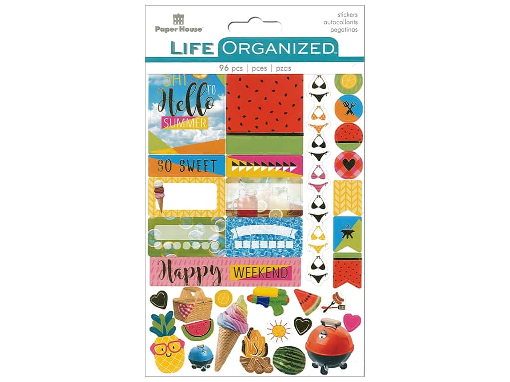 Paper House Life Organized Planner Stickers - Summer Fun