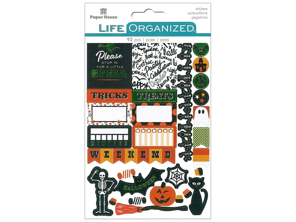 Paper House Collection Life Organized Sticker Planner Halloween Fun