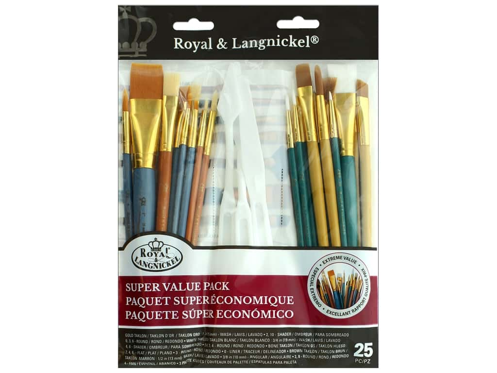 Royal Super Value Paint Brush Pack 25 pc. Variety