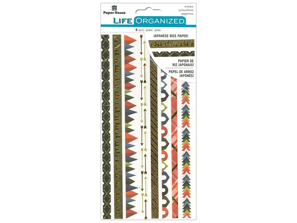 Paper House Collection Life Organized Sticker Rice Paper Outdoors