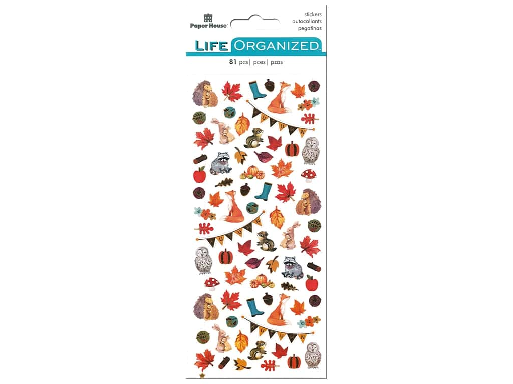 Paper House Collection Life Organized Sticker Micro Autumn Woods