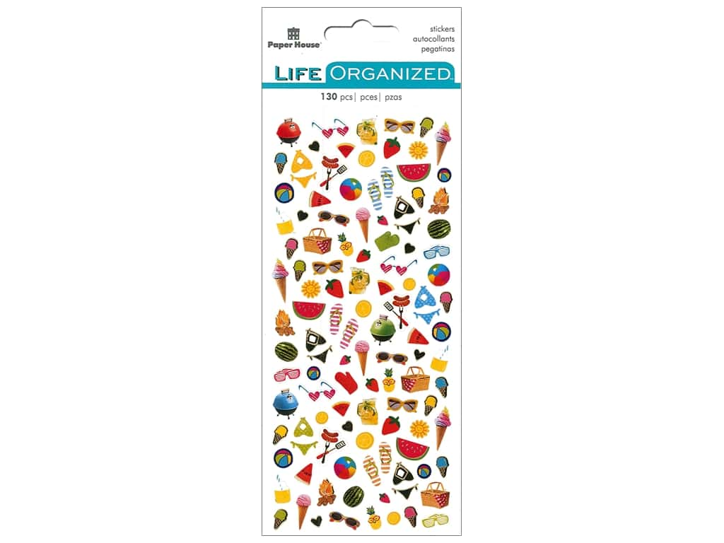 Paper House Collection Life Organized Sticker Micro Summer Fun