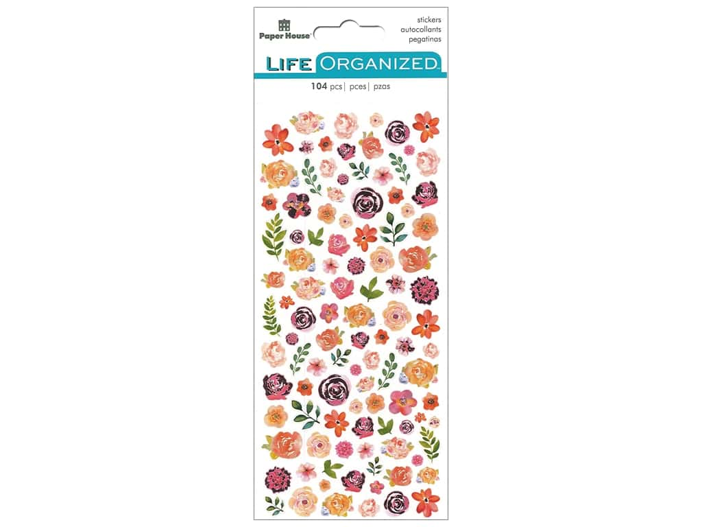 Paper House Life Organized Micro Stickers - Flowers