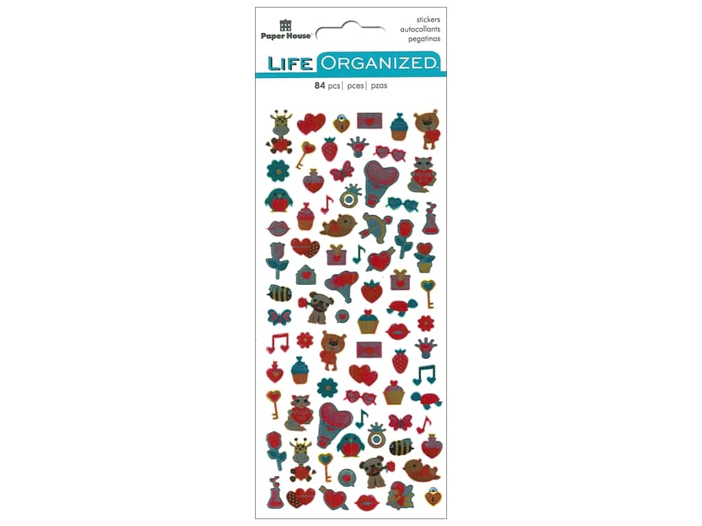 Paper House Collection Life Organized Sticker Micro Valentines