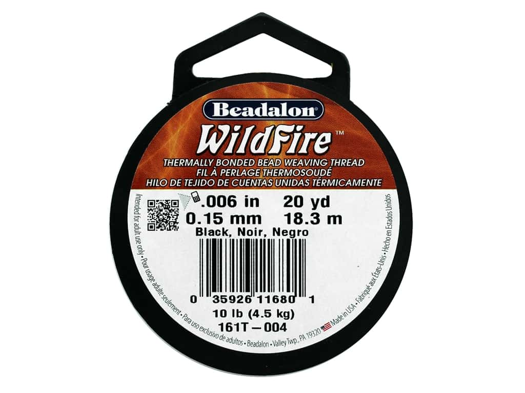 Beadalon Wildfire Bead Thread .15mm 20yd Black
