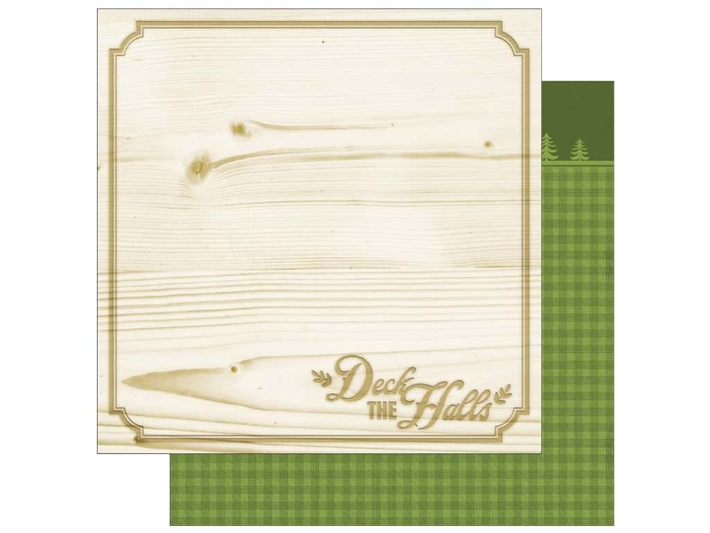 """Paper House Collection Christmas Cheer Paper 12""""x 12"""" Deck The Halls (15 pieces)"""