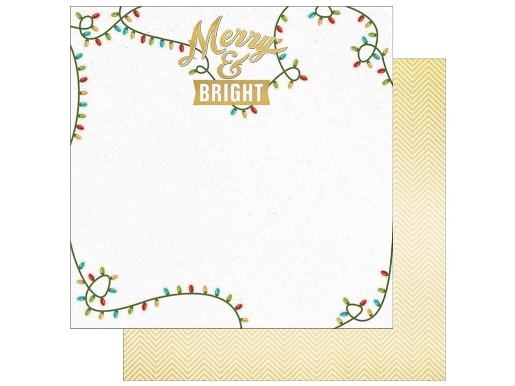 "Paper House Collection Christmas Cheer Paper 12""x 12"" Merry & Bright (15 pieces)"