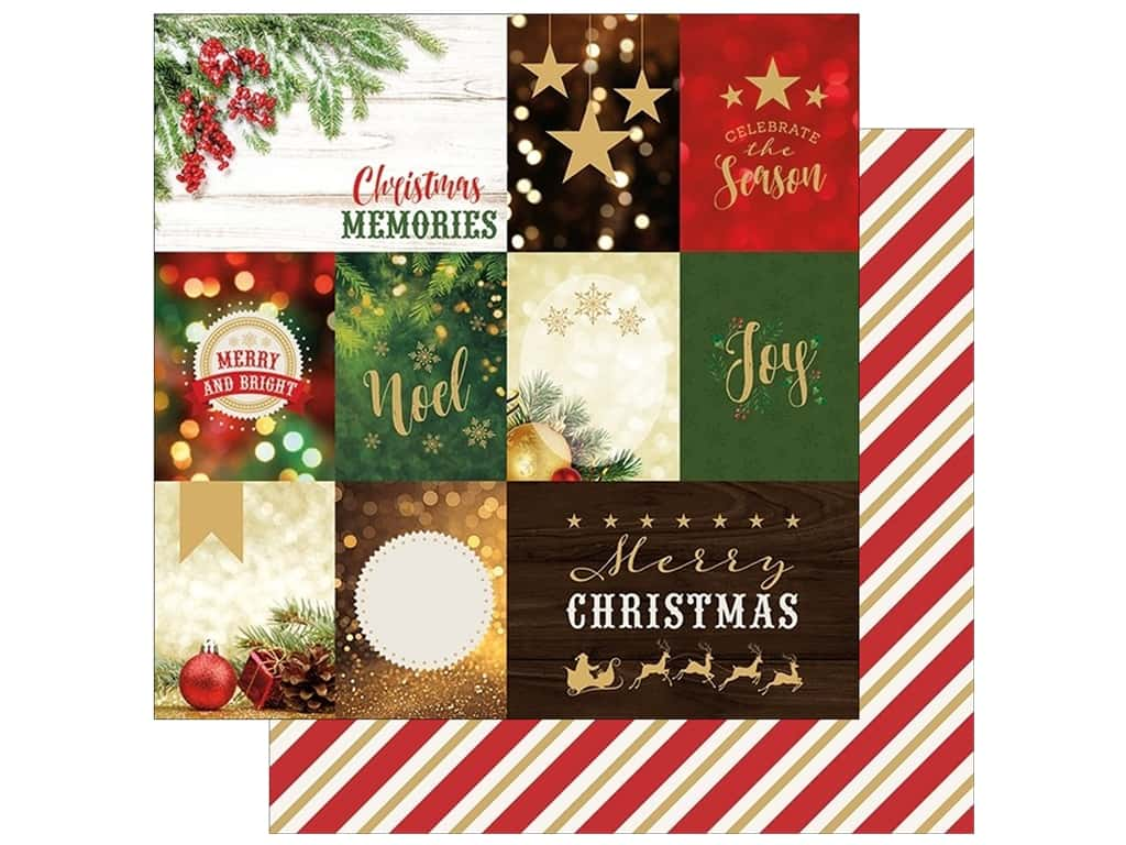 """Paper House Collection Christmas Joy Paper 12""""x 12"""" Tags (15 pieces)"""