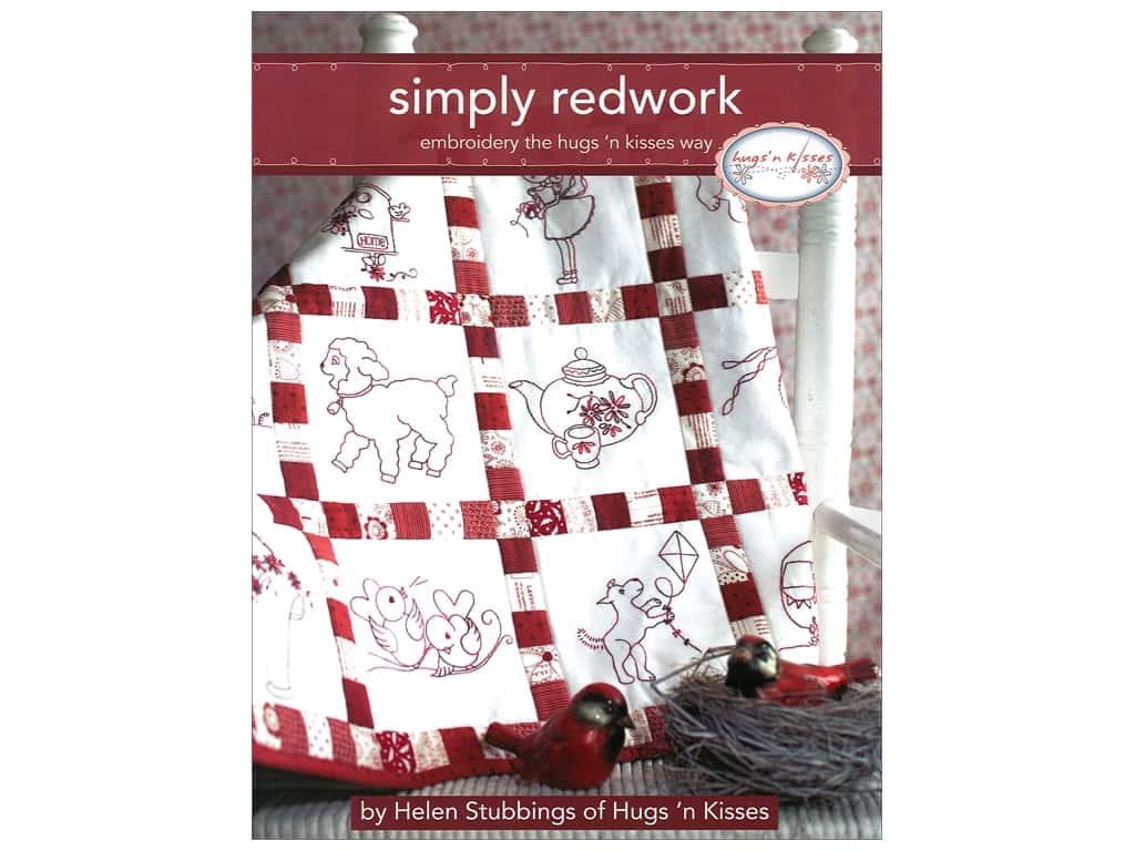 Landauer Books Simply Redwork Book