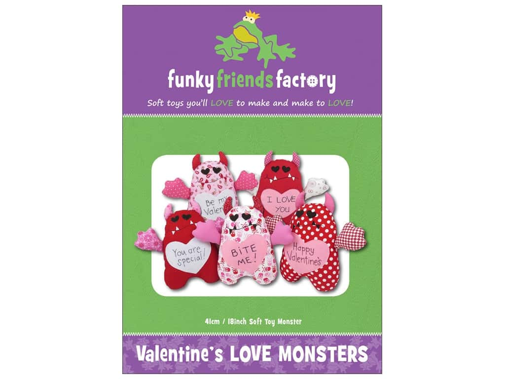 Funky Friends Factory Valentine's Love Monsters Pattern