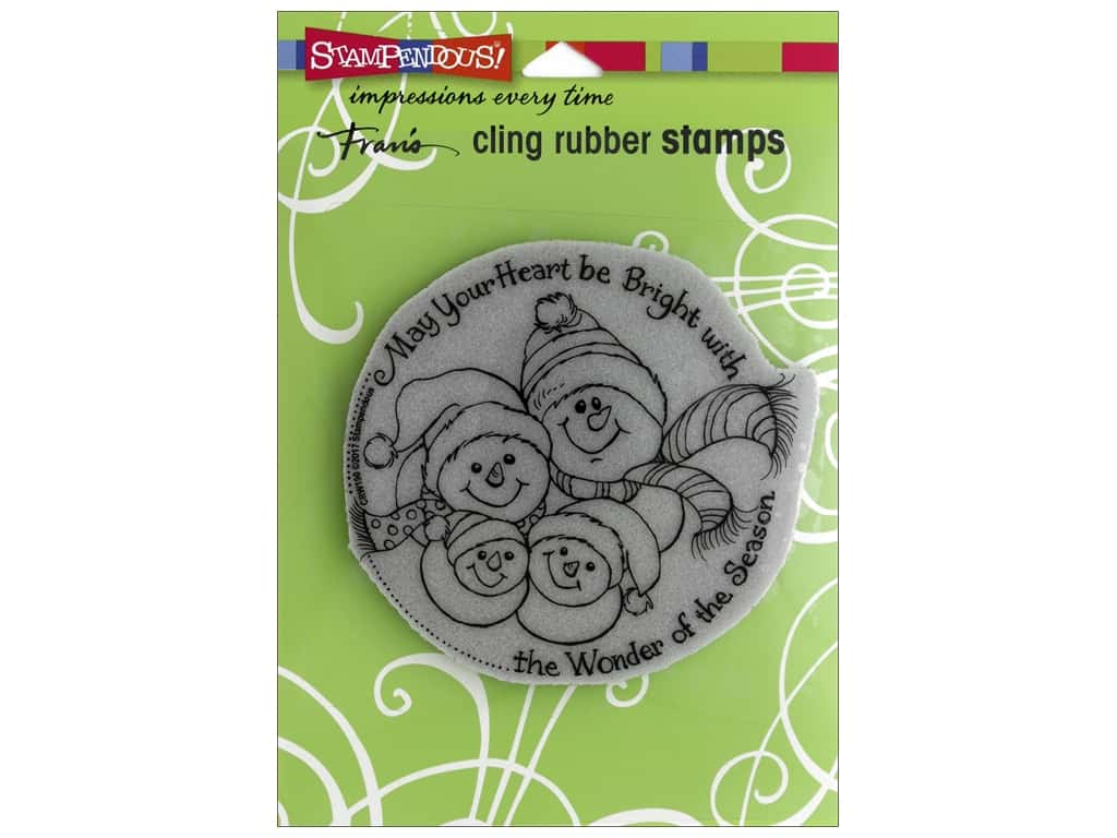 Stampendous Cling Rubber Stamp Snowman Season