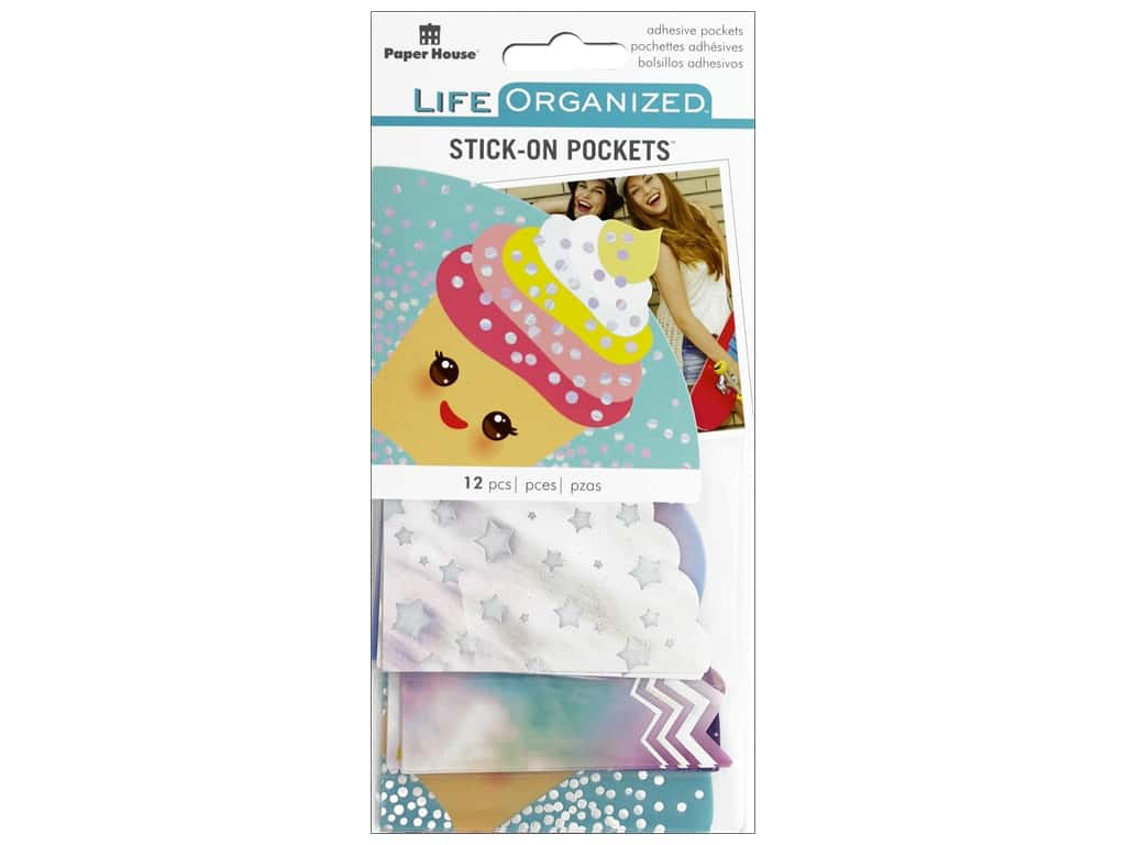 Paper House Collection Life Organized Stick On Pocket Kawaii