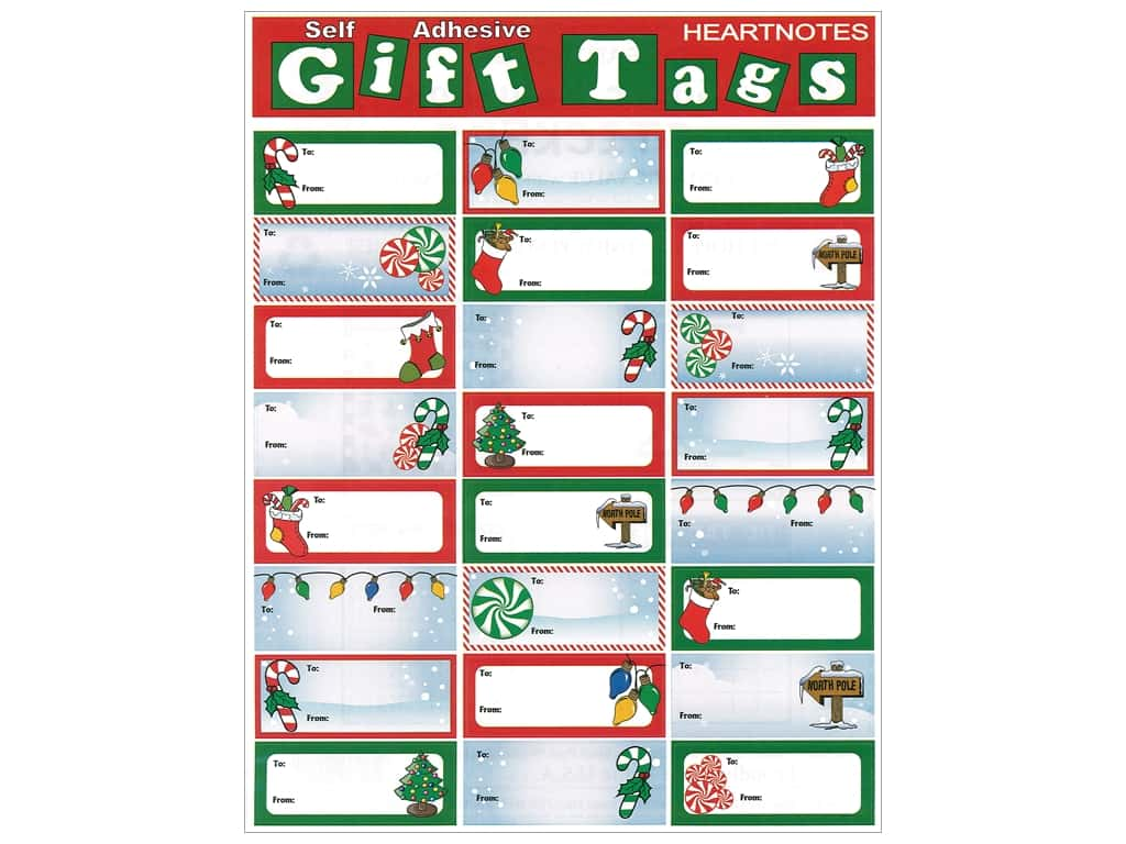 Heartnotes Sticker Christmas Tags Candy