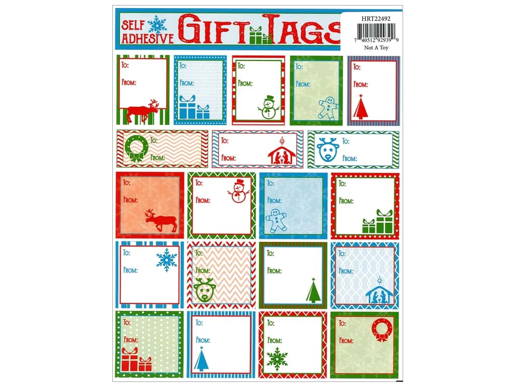 Heartnotes Sticker Christmas Tags Classic