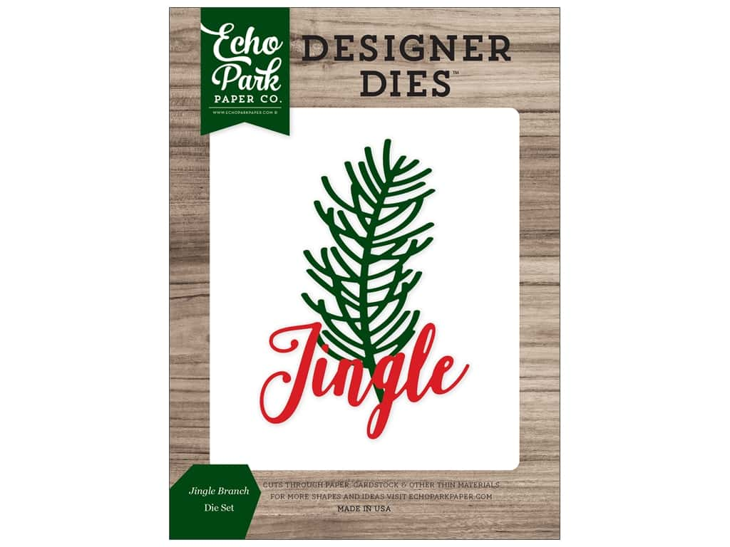 Echo Park Collection Christmas Cheer Die Set Jingle Branch