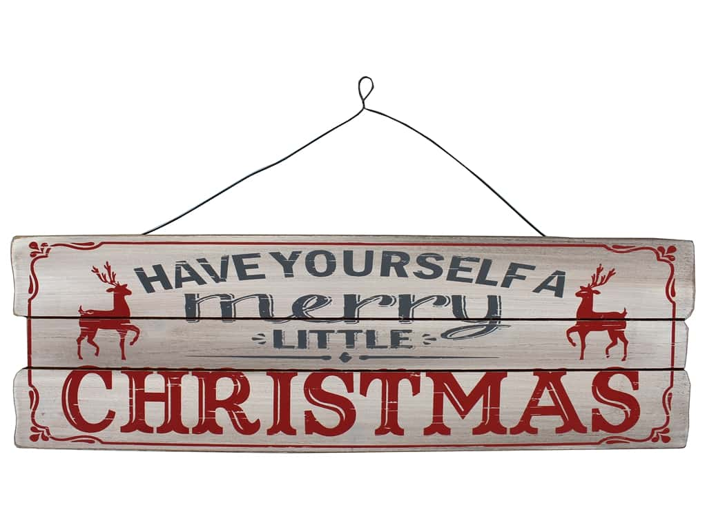 Sierra Pacific Crafts Wood Wall Art Plaque Merry Little Christmas