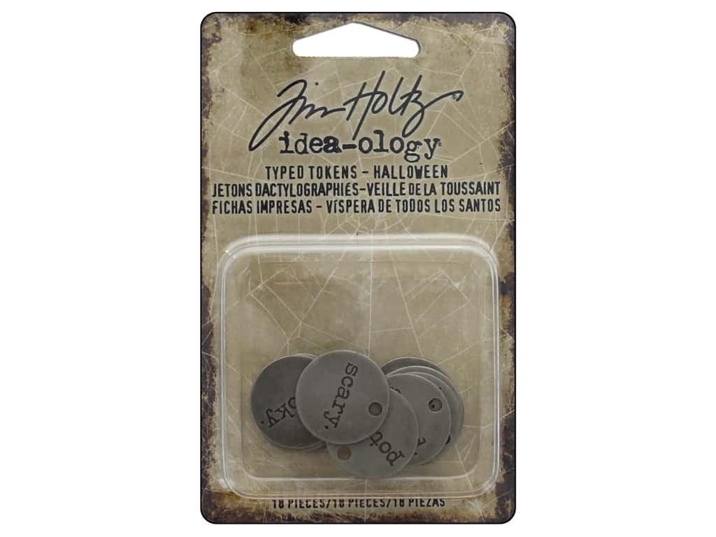 Tim Holtz Idea-ology Halloween Typed Tokens