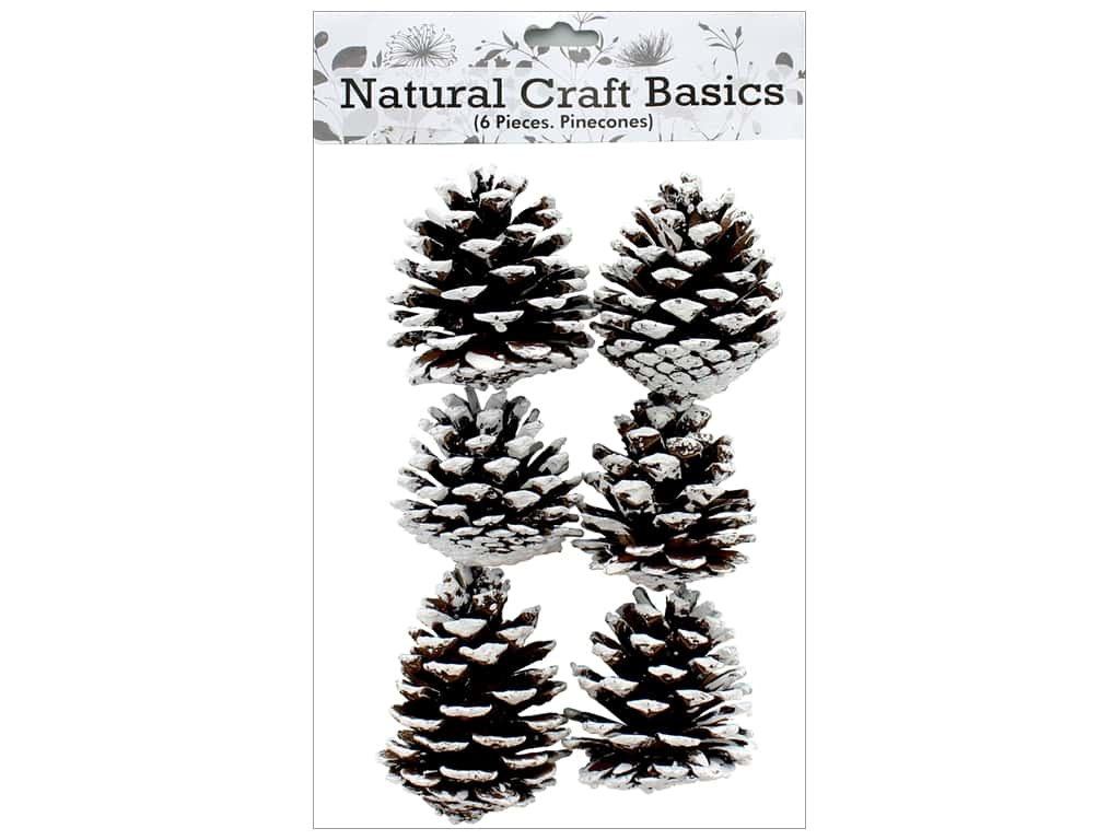 Sierra Pacific Crafts Decor Filler Pinecones with Snow 6 pc