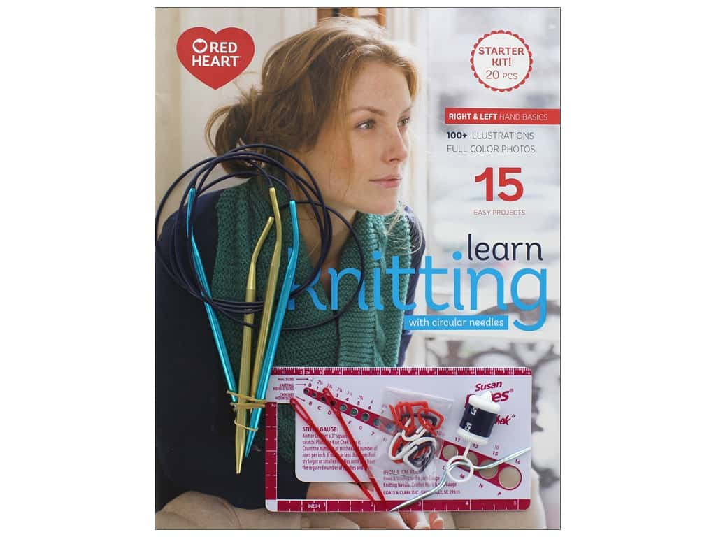 Susan Bates Learn Knitting with Circular Needles Kit