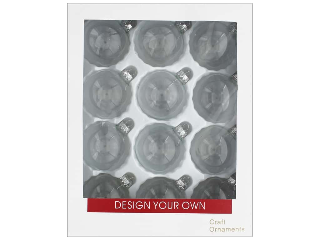 Sierra Pacific Crafts Decor Ornament 2 5/8 in. Clear 12 pc