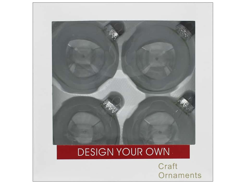 Sierra Pacific Crafts Decor Ornament 3.25 in. Clear 4 pc