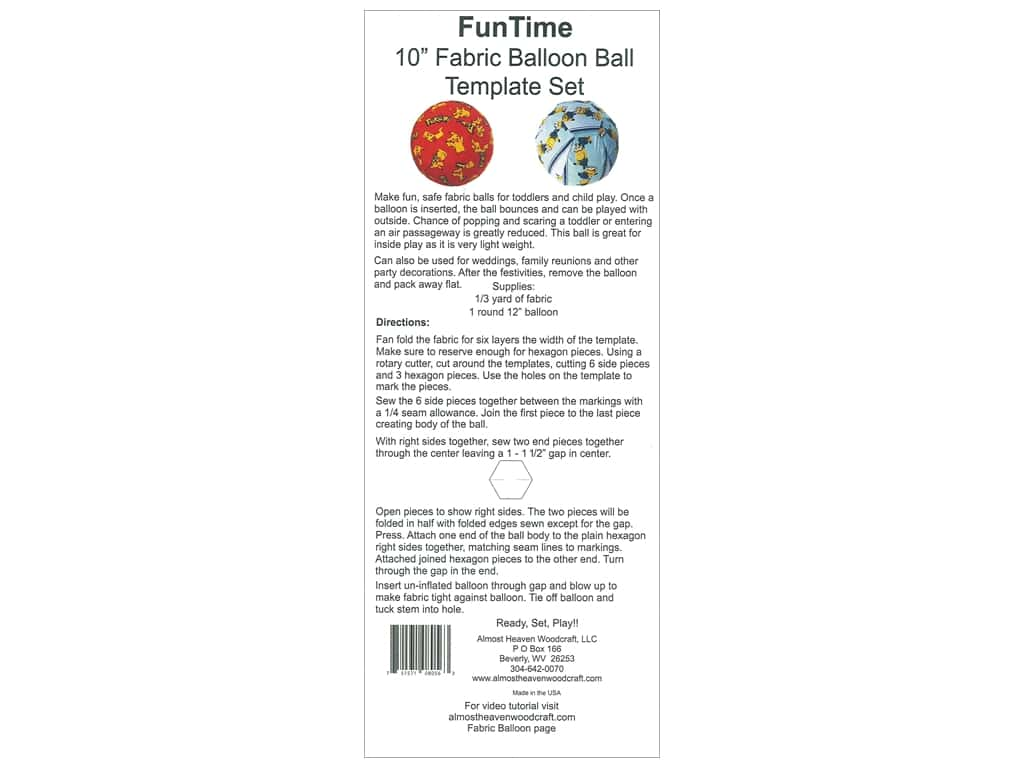 Almost Heaven Woodcraft Template 10 in. Balloon Ball