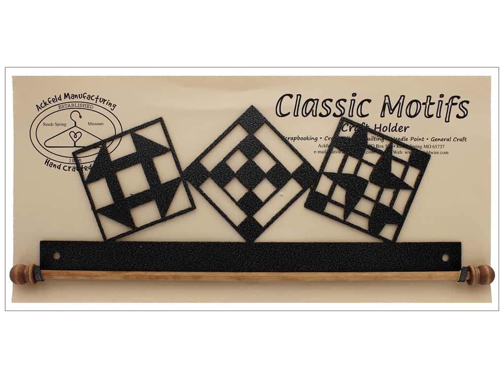 "Ackfeld Craft Holder 12"" Quilt Block Charcoal"