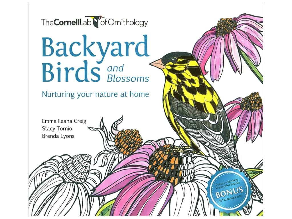 Cornell Lab Backyard Birds and Blossoms Coloring Book