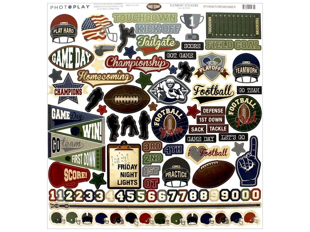 Photo Play Collection End Zone Sticker Elements 12 x 12 in. (12 pieces)
