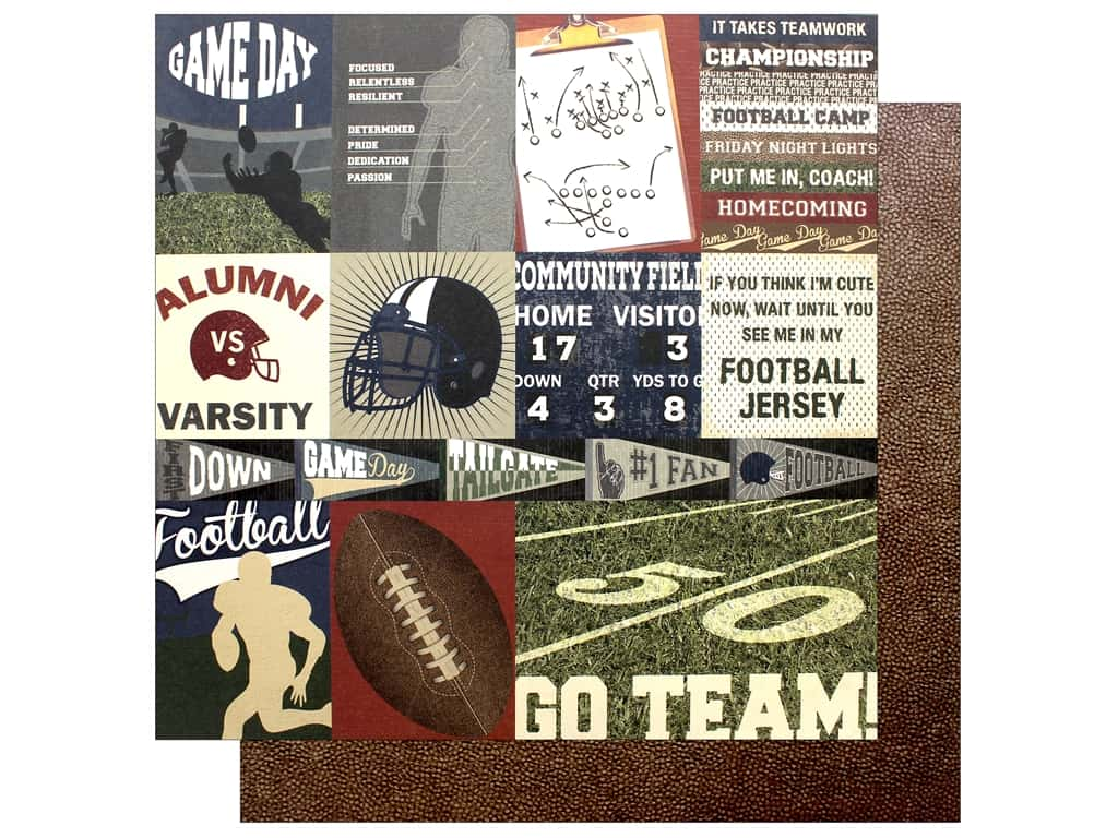 Photo Play Collection End Zone Paper 12 x 12 in. Go Team (25 pieces)