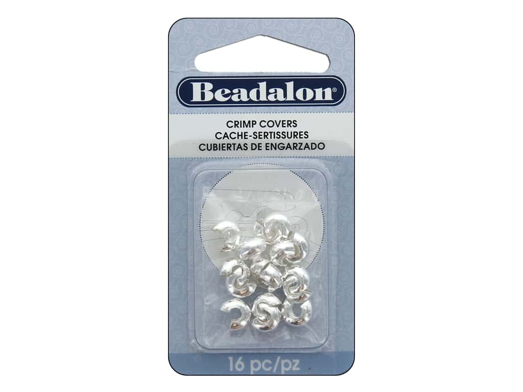 Beadalon Crimp Covers 7 mm Silver Plated 16 pc.